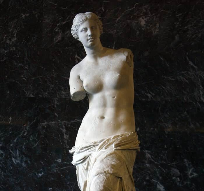 Aphrodite of Melos, of the ancient Greek artifacts