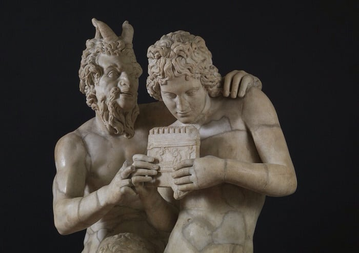 Pan and Daphnis statue