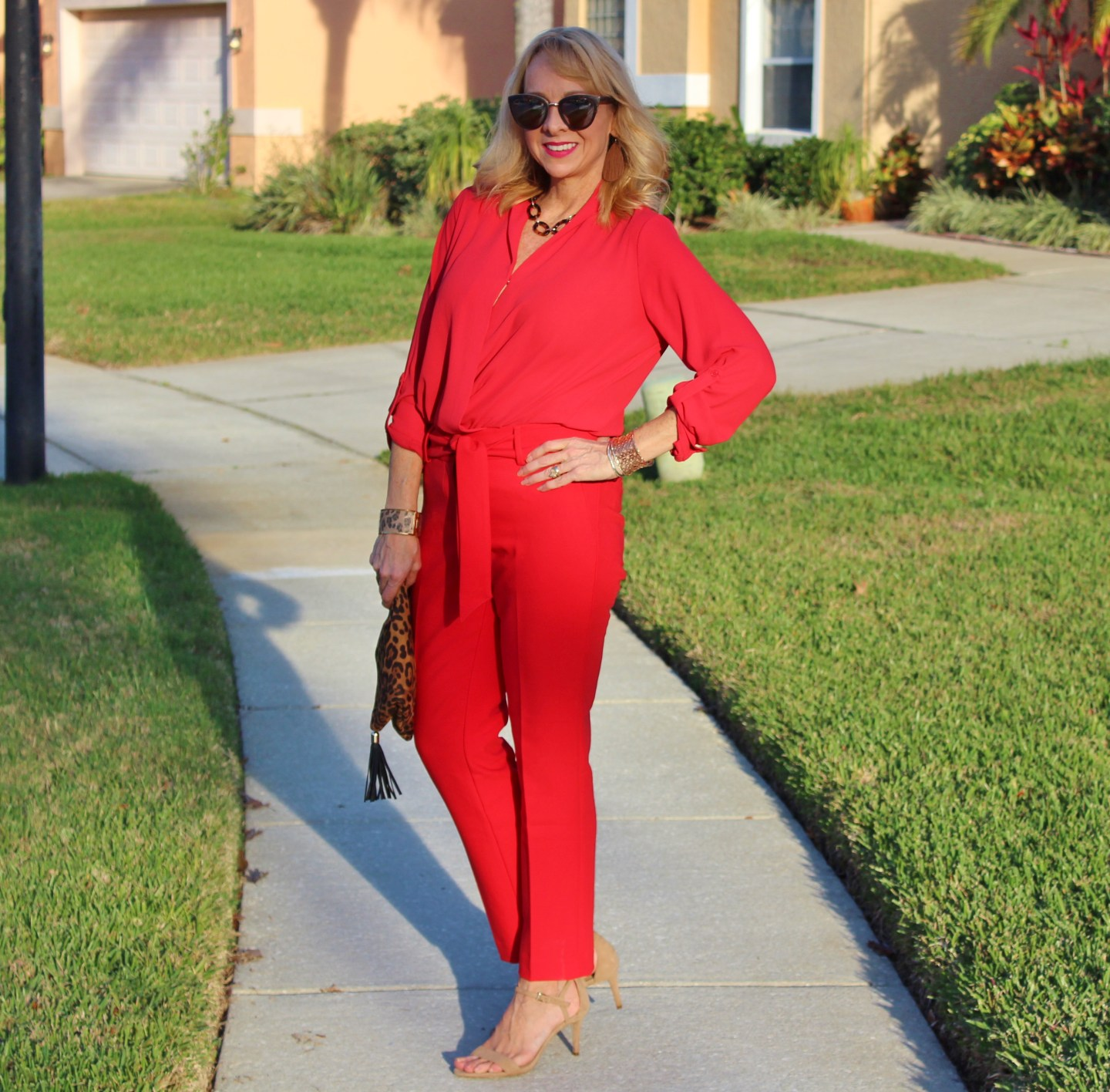 #RedPants Red Top