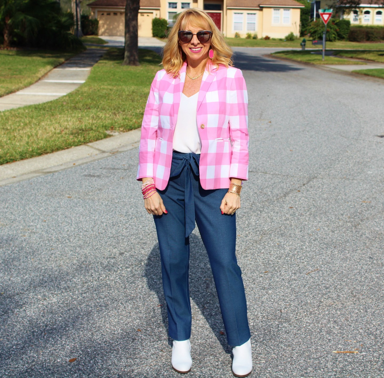#PinkPlaidBlazer