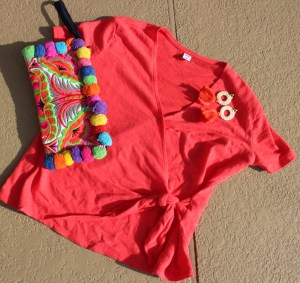 #Coral Top and accessories
