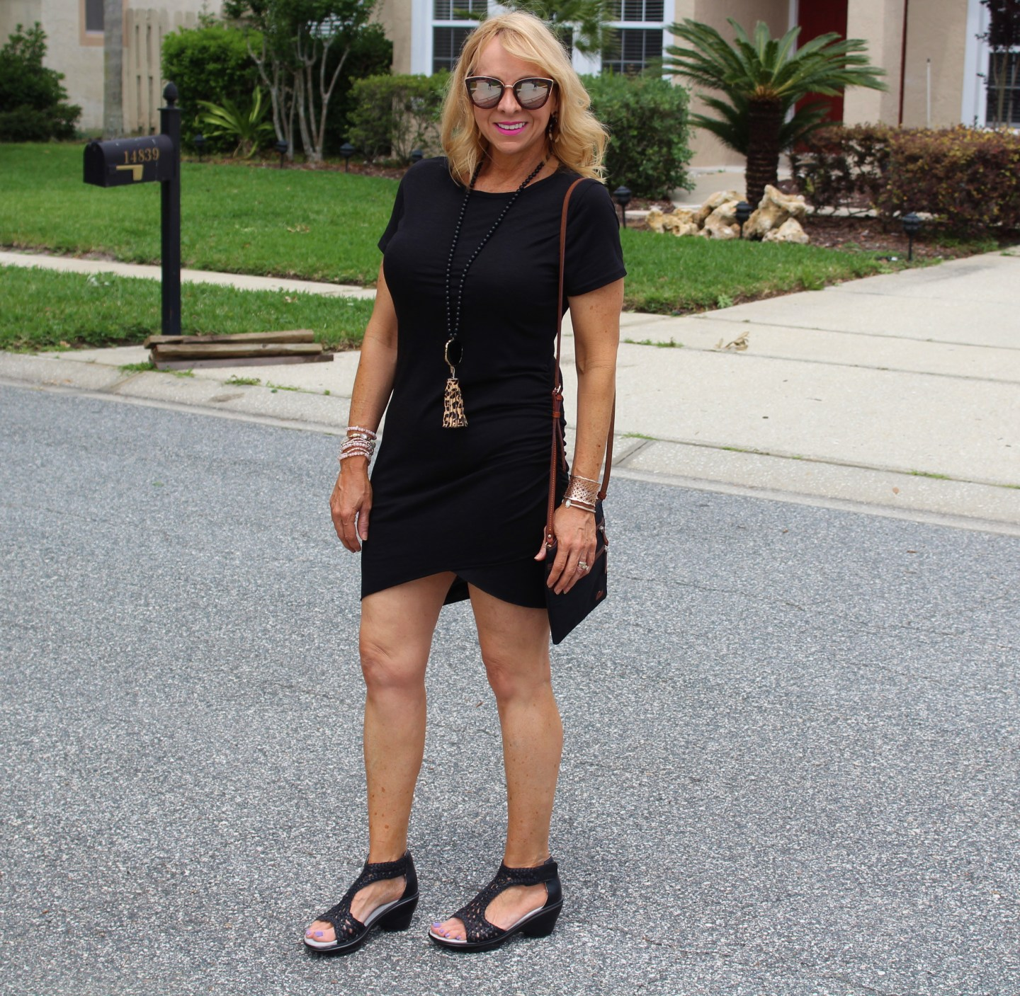 #Black Rouched Dress