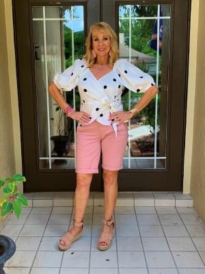 Polka Dot Top and Bermuda Shorts