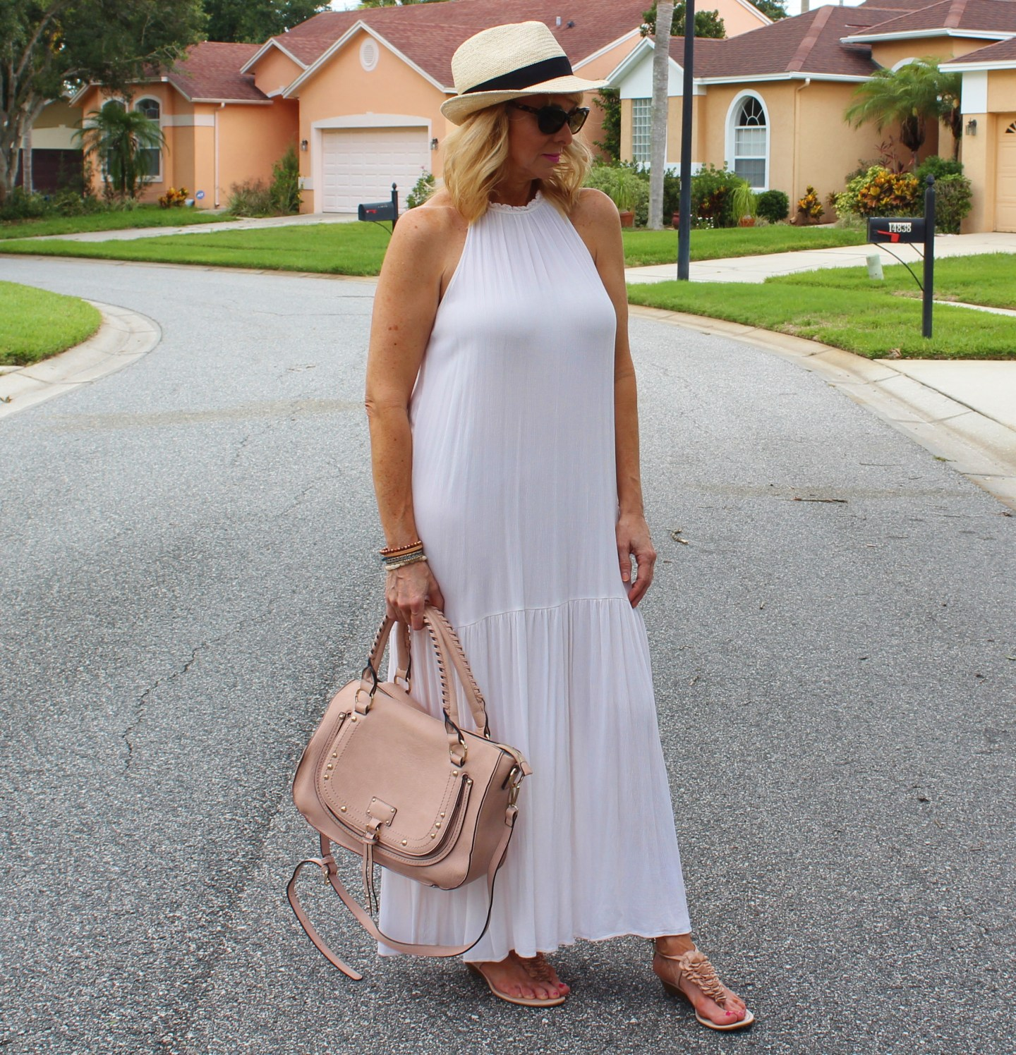 H&M Maxi dress and Fedora