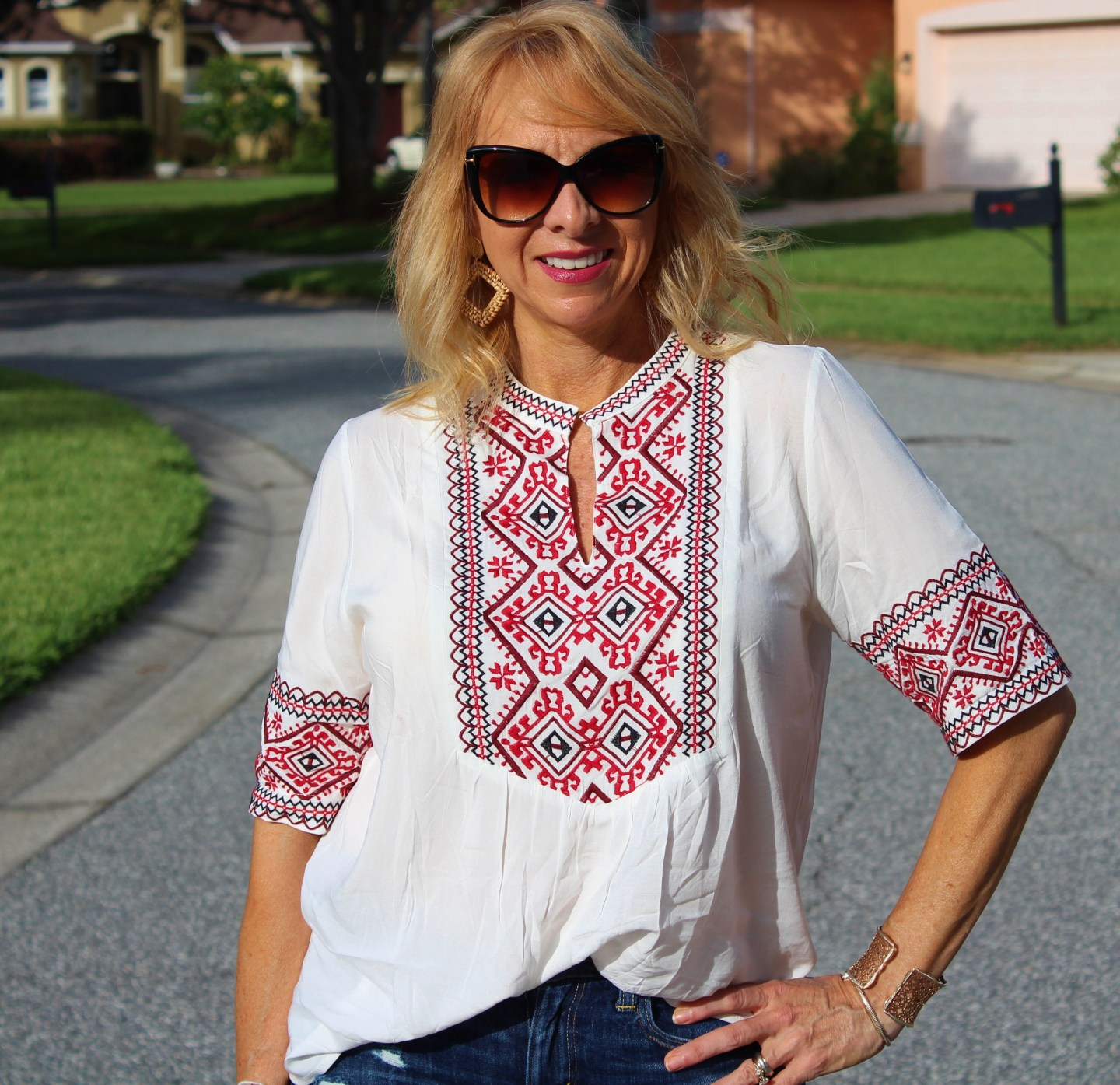 Jean Shorts and Boho Top