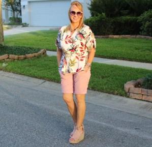 Fashom Wrap Top + Pink Shorts