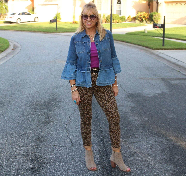 target Leopard Jeans + Denim Jacket