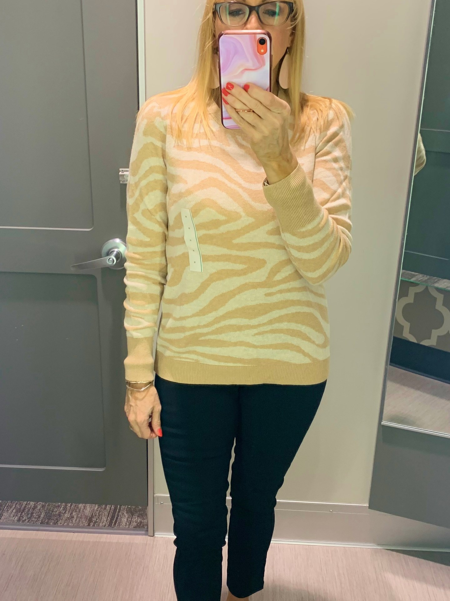 Zebra Striped Sweater