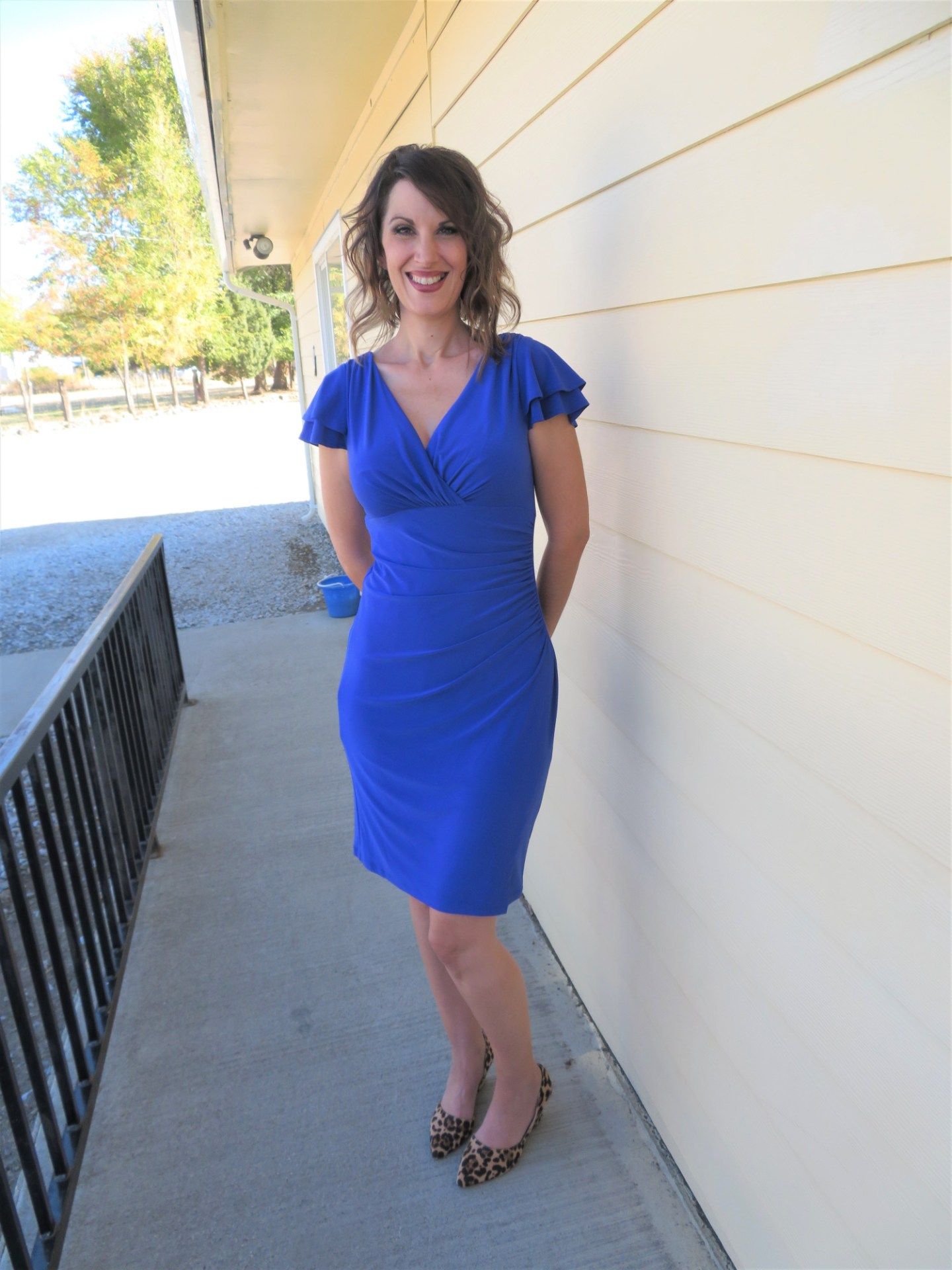 Sizable Fashion Blue Dress