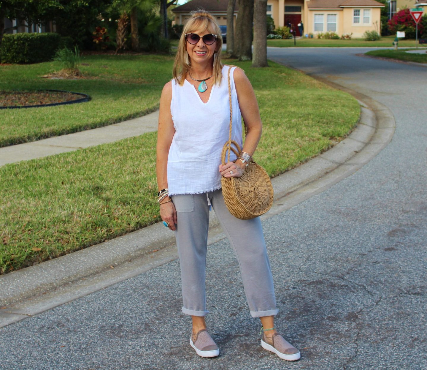 Comfortable and chic clothes and shoes