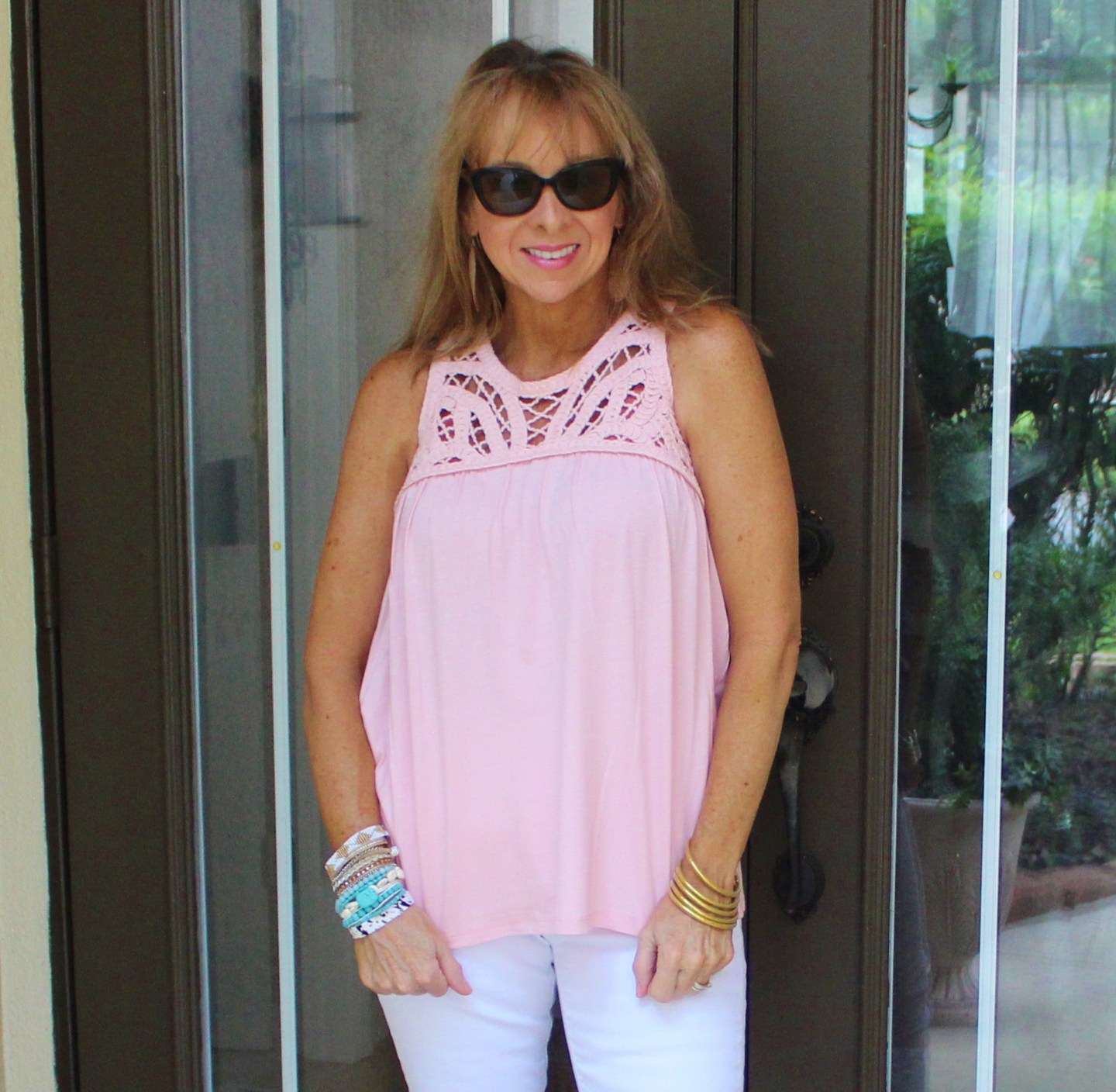 Blush Macrame Top