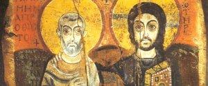 Christ and St Mena