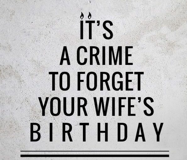 Image result for forgetting wife's birthday