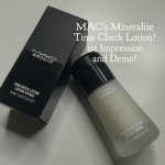 MAC's Mineralize Time Check Lotion: 1st Impression and Demo