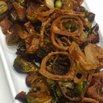 Brussels Sprouts with Bacon and Crispy Shallots