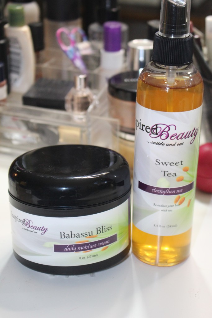 Inspired Beauty, Natural Hair, Natural Hair Products, Twist Out, hairstyle tutorial, All Natural Products, Sweet Tea, BaBassu Bliss, Hair care, Hair Care Products,