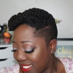 Retro Glam Updo for Natural hair