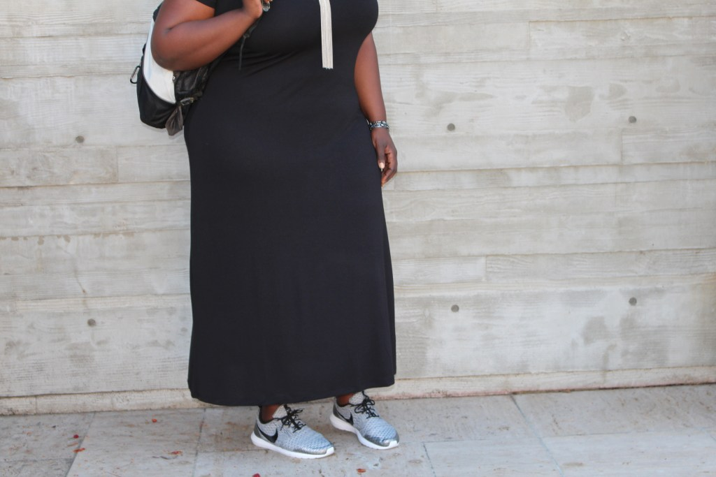 Plus Size, Plus Size Fashion, Fashion, Fashion Blog, Outfit of the Day, OOTD, Black Dress, Forever21, Nike, Style Blog, Lifestyle Blog, Natural Hair,