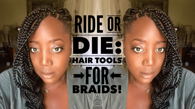 Box Braids, Braids, Natural Hair, Natural Hair Blog, Caring for Natural Hair, Caring for Box Braids, Tools for Hair, Tools for Braids, Styling Braids, Jana'e Michelle, This Curvy Girls Life, Natural Hair, Healthy Hair, Protective Style, How to care of braids,