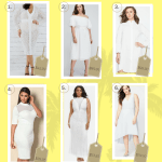 """6"" Plus Size White Dresses for Spring and Summer"