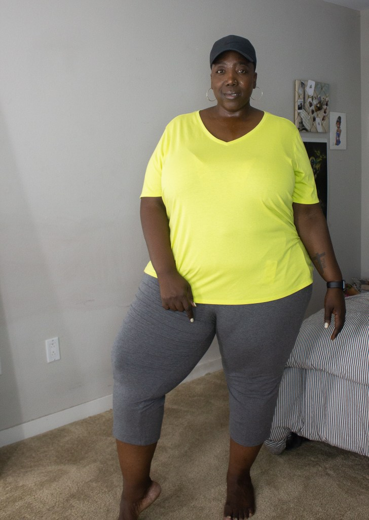 Walmart, Walmart Fashion, Plus Size Fashion, Plus Size Workout clothes, Affordable plus size workout looks, Terra and Sky,