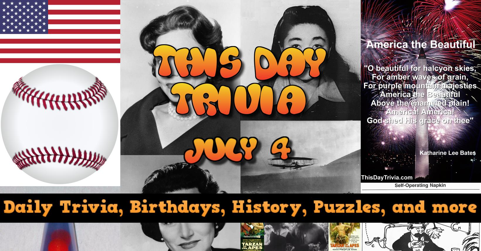 Today S Trivia July 4