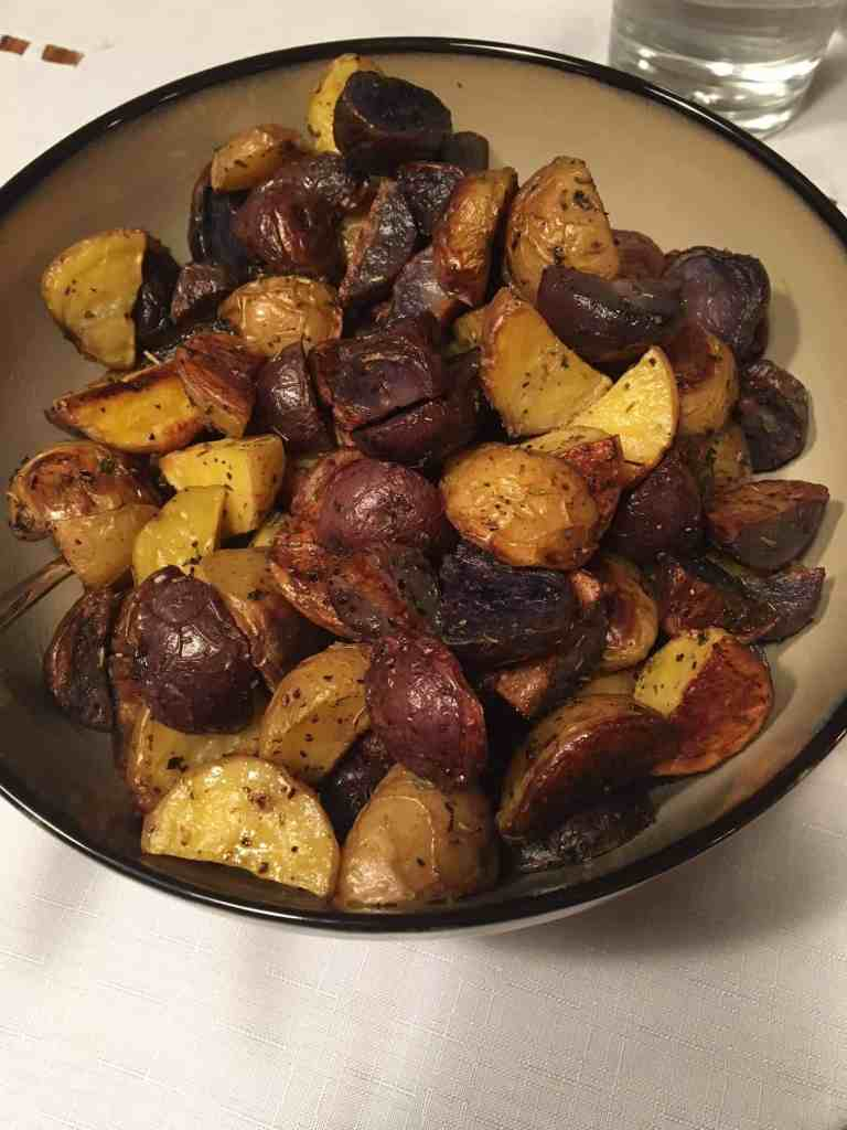 roasted potatoes christmas dinner - Simple Christmas Dinner