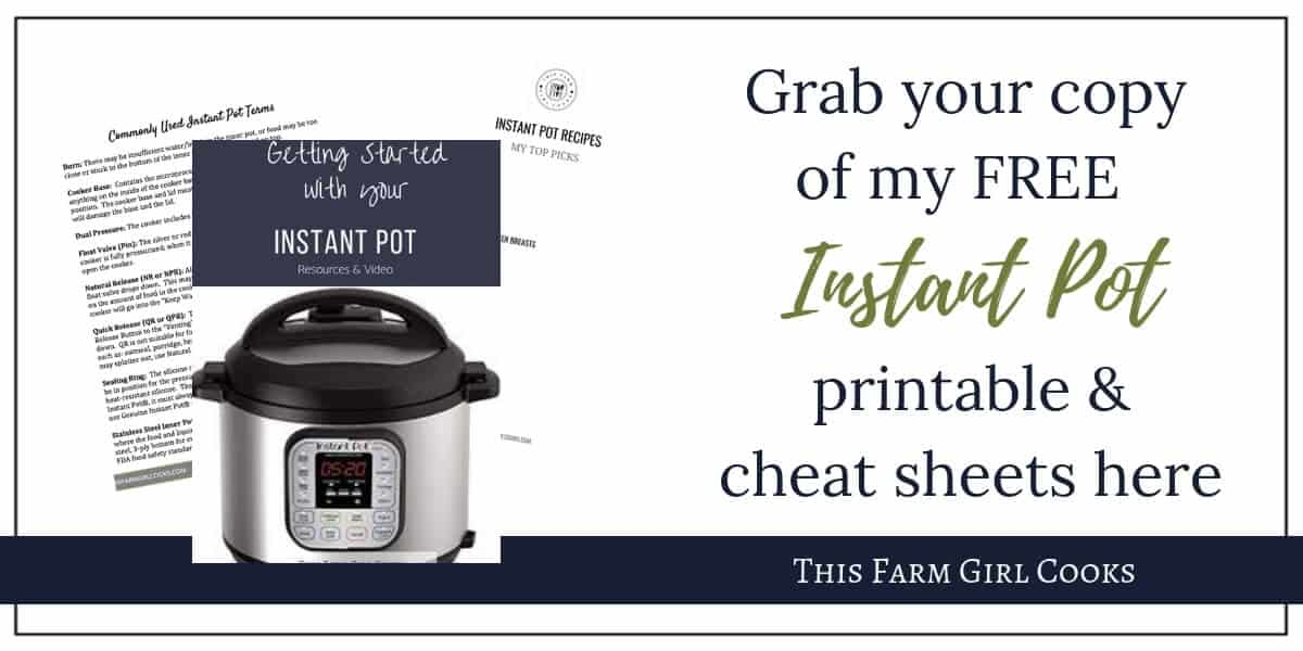 image about Instant Pot Cheat Sheet Printable identified as Quick Pot Principles Supplies for Novices