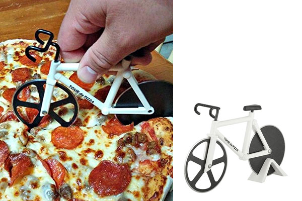 cycling gifts for him pizza cutter