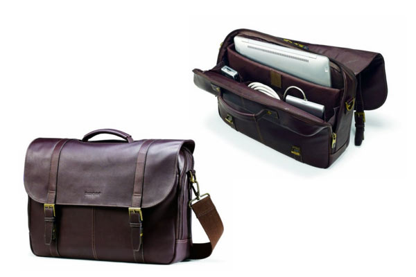 leather gifts for him messenger bag