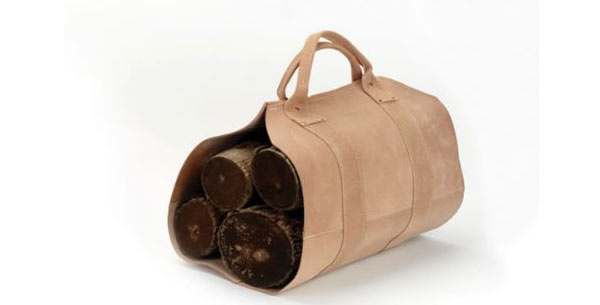 leather gifts for him log carrier