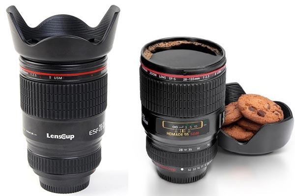 small gifts ideas for men camera lens mug