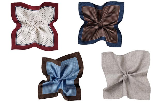small gifts ideas for men pocket square