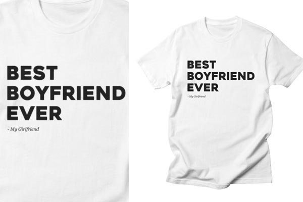 romantic gifts for boyfriend t shirt