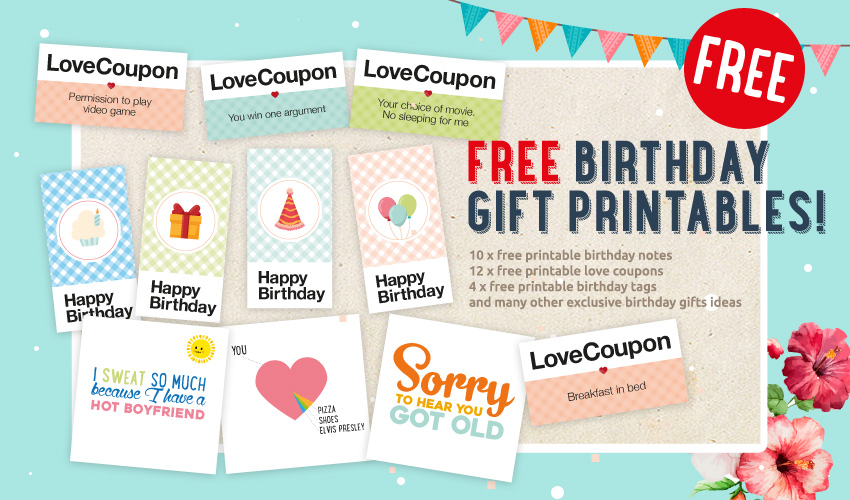 graphic relating to Printable Birthday Coupons referred to as No cost Lovely Birthday Printable Package For Him! - This Presents