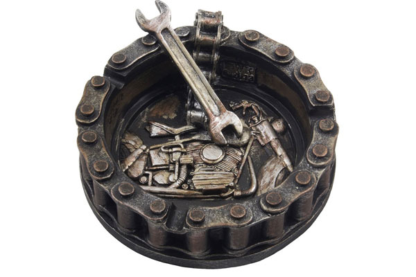 motorchain ashtray unique gifts for him