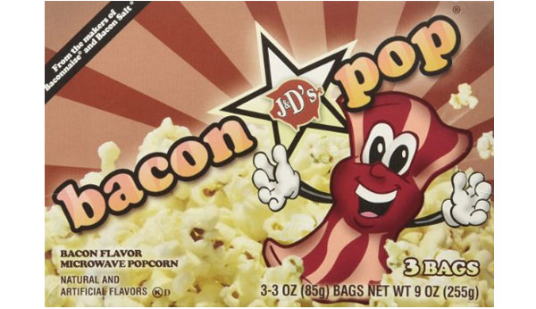 popcorn birthday present for bacon lover