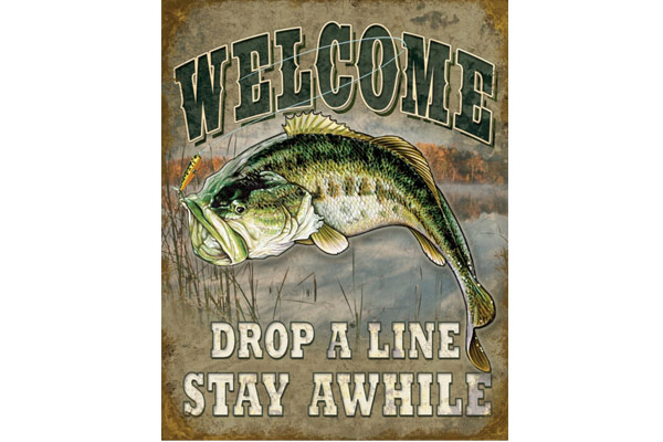 fishing gifts for him tin sign