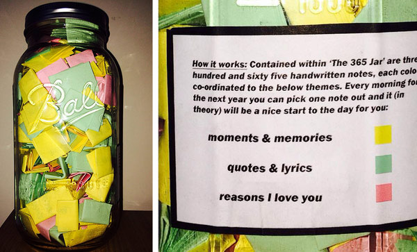 meaningful gifts for him memory jar