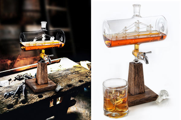 best birthday gifts to husband hand blown decanter