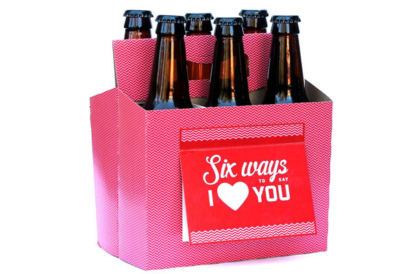 love gifts for him beer box