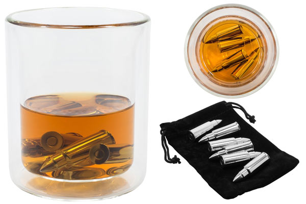 unique birthday gifts for husband bullet whiskey stones