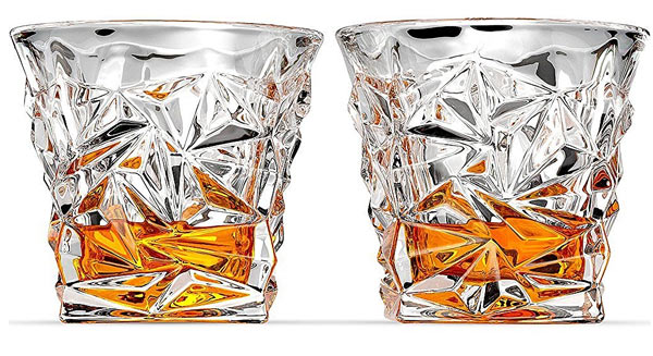 Whiskey Glass Gift Set diamomd cut shot glasses