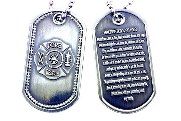 firefighter gifts for men prayer tag