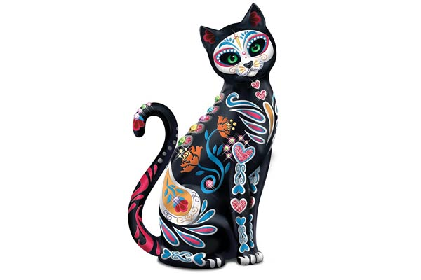 gifts for tattoo artists cat figurine