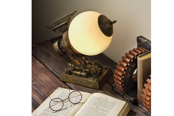 gifts for tattoo artists steampunk illuminated lamp