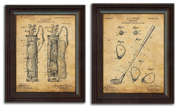 golf gifts for him print art