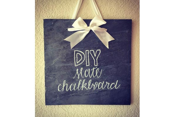 creative handmade gifts for boyfriend chalkboard