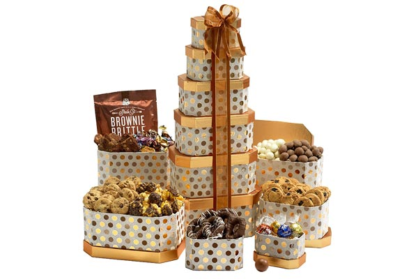 gift baskets for men cookies tower