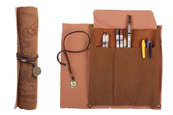 gifts for men under 5 roll up pencil case